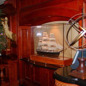 Nautical Decor with Model Ships