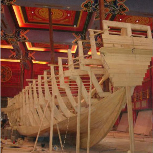 This is a full size model of  a Chinese Junk