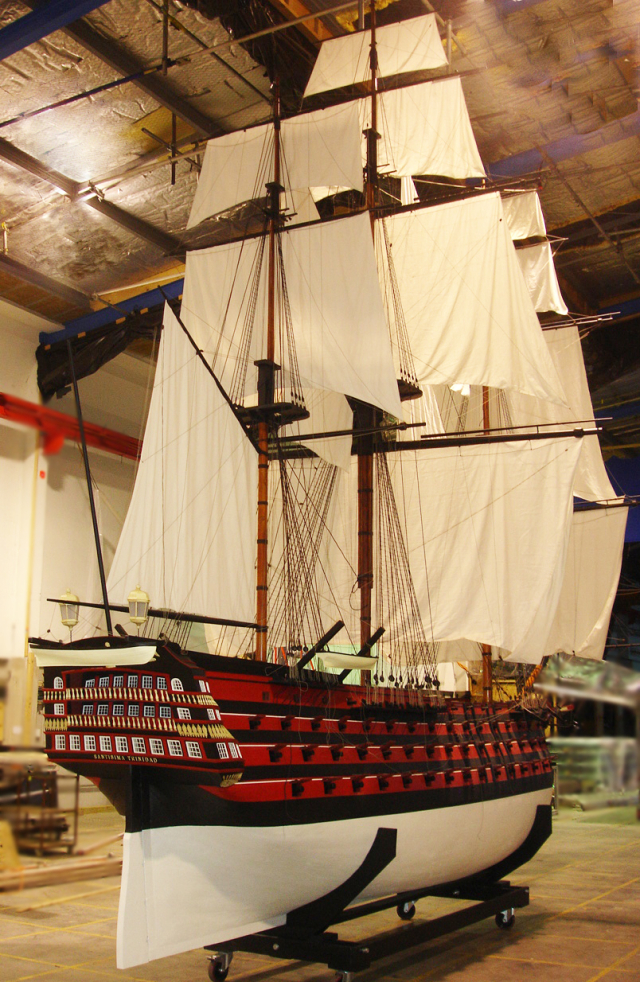 Custom Model Ship Santisima Trinidad Museum Quality