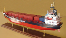 Container Ship Heulin Dispatch Model Ship