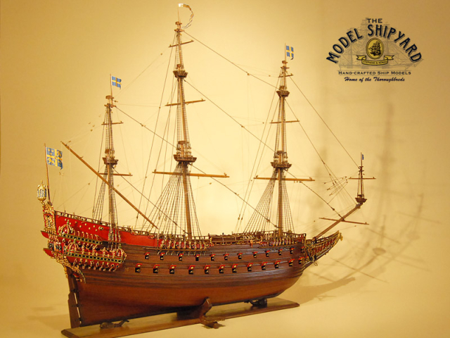 Model Ships Vasa Ship Model Replica Swedish Battleship