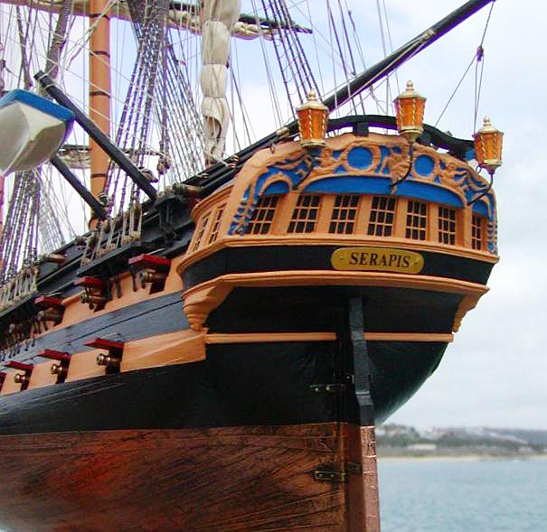 Wooden Ships Models | HMS Serapis | Model Ships for Sale